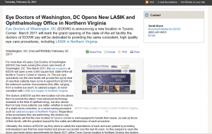 LASIK eye surgery Northern Virginia Washington DC