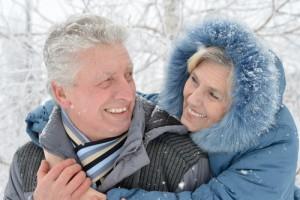 couple-snow
