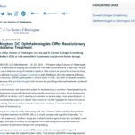 EDOW Offers Crosslinking for Keratoconus